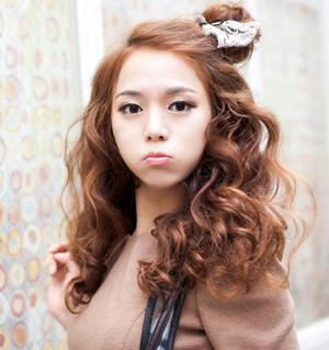 ทรงผมเกาหลี ติดโบว์น่ารัก