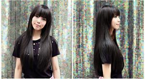 ทรงผมยาวตรง สไตล์ เกาหลี