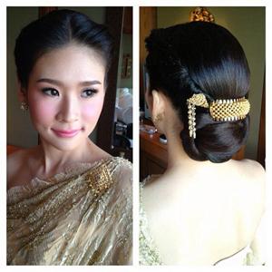 ทรงผมเจ้าสาว ชุดไทยสวยมากเลยทีเดียว